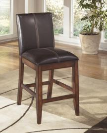 Ashley D442-224 Larchmont Barstool Set of 2 Dark Brown / Black
