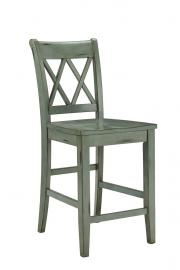 "Ashley - Mestler D540-124 Blue/Green 24"" Barstool (Set of 2)"