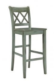 "Ashley - Mestler D540-130 Blue/Green 30"" Barstool (Set of 2)"