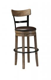 "Ashley - Pinnadel D542-130 Wood/Metal Swivel 30"" Bar Stool"
