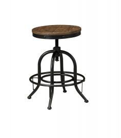 "Ashley - Pinnadel D542-224 Wood/Metal Swivel 24""Barstool (Set of 2)"