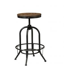 "Ashley - Pinnadel D542-230 Wood/Metal Swivel 30"" Barstool (Set of 2)"