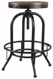 Ashley Valebeck Brown/Black D546-230 Barstool Set of 2