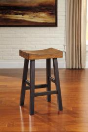 "Ashley - Glosco D548-030 Two Tone Wood 30"" Barstool (Set of 2)"
