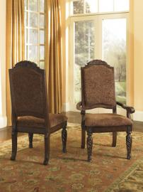 Ashley D553-02 North Shore  Dining Chair Set of 2 in Dark Brown