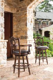 Ashley D553-130 North Shore Swivel Barstool in Dark Brown