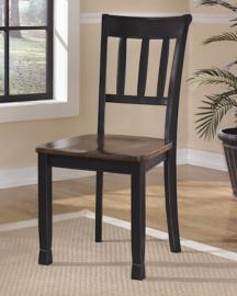 Ashley D580-02 Gladdenville Dining Chair Set of 2 in Black / Brown