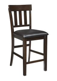 "Ashley - Haddigan D596-124 Dark Brown 24"" Barstool (Set of 2)"