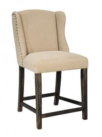 "Ashley - Moriann D608-524 Wing Back 24"" Barstool (Set of 2)"