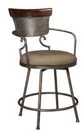 "Ashley - Moriann D608-624 Metal Upholstered Swivel 30"" Barstool"