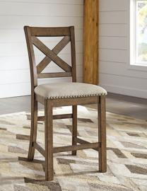 Ashley D631-124 Moriville Barstool Set of 2 Beige Fabric