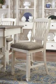 Ashley D647-124 Bolanburg Barstool Set of 2 in White / Two - Tone