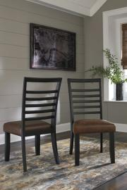Ashley D648-01 Manishore Dining Chair Set of 2 in Brown