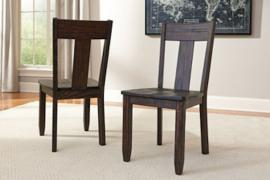 Ashley D658-01 Trudell Dining Chair Set of 2 in Dark Brown