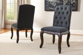 Ashley D658-02 Trudell Dining Chair Set of 2 in Dark Grey