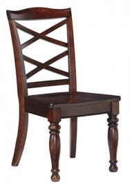 Ashley D697-01 Porter Dining Chair Set of 2 in Rustic Brown