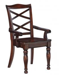 Ashley D697-01A Porter Dining Arm Chair Set of 2 in Rustic Brown
