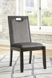 Ashley Hyndell Gray & Dark Brown Finish D731-01 Dining Chair Set of 2