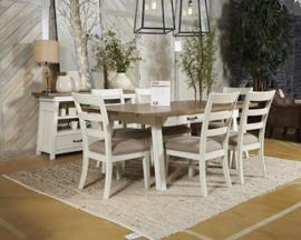 Ashley D739-01 Stownbranner Dining Chair Set of 2 in White