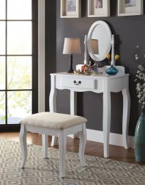 Samantha DK6433WH White Vanity Collection