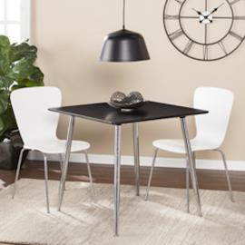 DN0660 Kelwyn By Southern Enterprises Square Small Space Dining/Game Table - Black