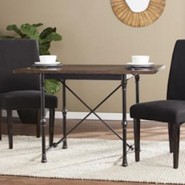 DN0896 Bradford By Southern Enterprises Industrial/Farmhouse Drop-Leaf Dining Table