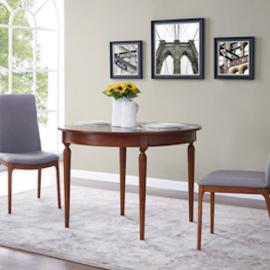 DN0906 Rosina By Southern Enterprises Convertible Console to Dining Table - Dark Sienna