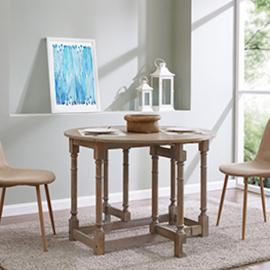 DN1314 Sheringham By Southern Enterprises Drop-Leaf Dining Table