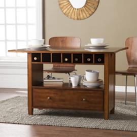 DN2972 Axford By Southern Enterprises Convertible Console to Dining Table - Oak Saddle