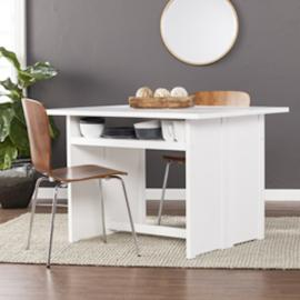 DN2974 Kempsey By Southern Enterprises Convertible Console to Dining Table - White