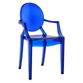 Casper EEI-121BLU Blue Stackable Dining Arm Chair