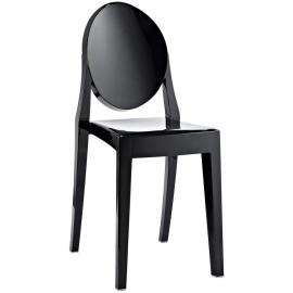 Casper EEI-122-BLK Black Stackable Dining Side Chair