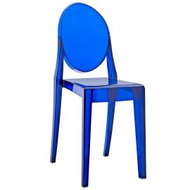 Casper EEI-122-BLU Blue Stackable Dining Side Chair