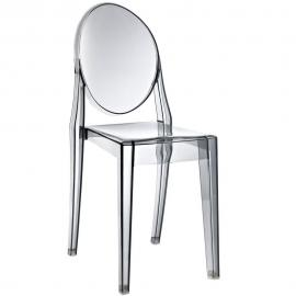 Casper EEI-122-SMK Smoke Stackable Dining Side Chair