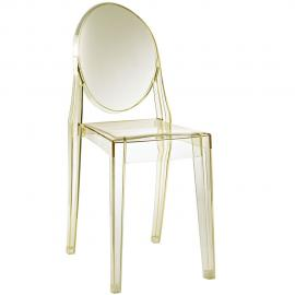 Casper EEI-122-YLW Yellow Stackable Dining Side Chair