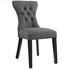 Silhouette EEI-1380-GRY Grey Fabric Hourglass Dining Side Chair