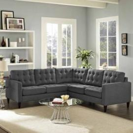 Priscilla EEI-1417DKGY Dark Gray Sectional Sofa