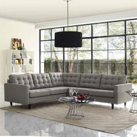 Priscilla EEI-1417GY Gray Sectional Sofa