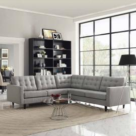 Priscilla EEI-1417LTGY Light Gray Sectional Sofa
