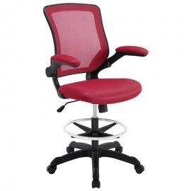 Veer EEI1423RED Red Drafting Table Chair