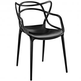 Entangled EEI-1458 Black Creative Dining  Arm Chair