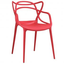 Entangled EEI-1458 Red Creative Dining  Arm Chair