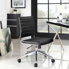 Jive EEI-1525 Black Armless Mid-Back Office Chair