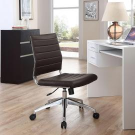 Jive EEI-1525 Brown Armless Mid-Back Office Chair