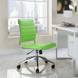 Jive EEI-1525 Bright Green Armless Mid-Back Office Chair