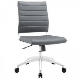 Jive EEI-1525 Gray Armless Mid-Back Office Chair