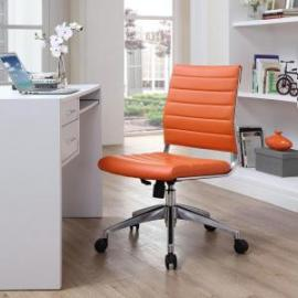Jive EEI-1525 Orange Armless Mid-Back Office Chair