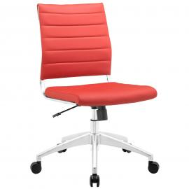 Jive EEI-1525 Red Armless Mid-Back Office Chair