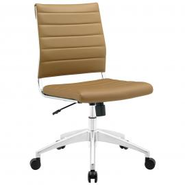 Jive EEI-1525 Tan Armless Mid-Back Office Chair