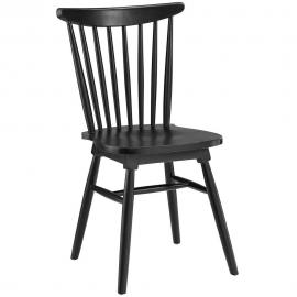 Amble EEI-1539-BLK Black Traditional Dining Side Chair